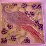 Early Rookwood Parrot Tile Trivet 1927