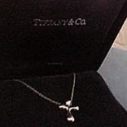 Tiffany & Co. Elsa Peretti Platinum Cross Necklace