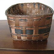 REDUCED Native American Penobscot Tribal Basket, c 1900-1930