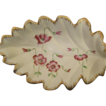 Hand Painted Floral Leaf Shaped Dish