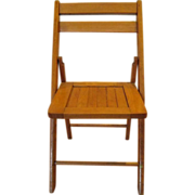 Child's Wooden Folding Chair