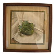 Oil Painting of a Green Pepper