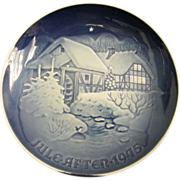 Bing and Grondahl Copenhagen Porcelain 1975 Christmas Plate