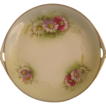 Royal Rudolstadt Prussia Hand Painted Cake Plate with Asters, c. 1910