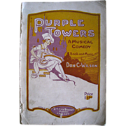 1927 High School Operetta, Purple Towers, A Musical Comedy