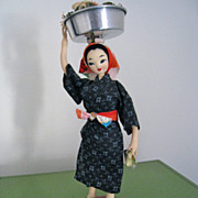 Handcrafted Fabric Okinawa, Japan Doll, ca. 1960