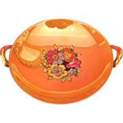 Noritake Peach Lustre Footed Candy Dish, ca. 1940