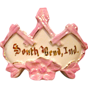 Pink Lustre South Bend Souvenir Basket