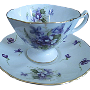 Rossetti Chicago Occupied Japan Spring Violets Cup and Saucer, c. 1945-1952
