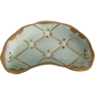 Pastel Turquoise Hand Painted Crescent Dish