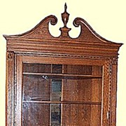 HUGE Oak Corner Cupboard