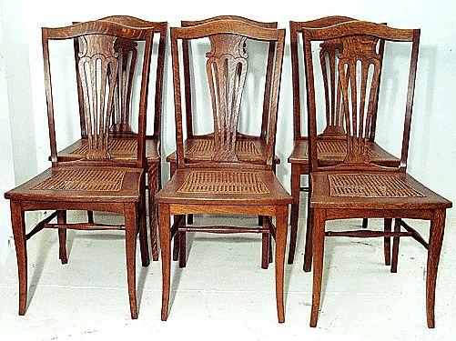 Set of 6 Fan Back Chairs