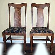 Set of 6 Oak Paw Foot Chairs