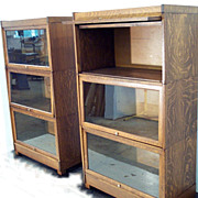 """Weis"" Oak Oversized Stacking Bookcases"