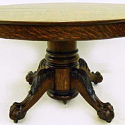 Acanthus Leaf Oak Dining Table
