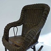 Wicker Child's Rocker