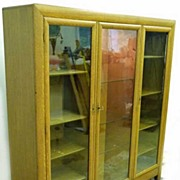 Oak Triple Door Bookcase
