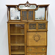 Outstanding Oak Secretary Desk