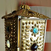 Bradley & Hubbard Brass Lantern with Jewels
