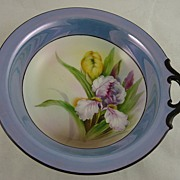 Gorgeous Noritake Lusterware Hand Painted Bowl - Iris and Tulip