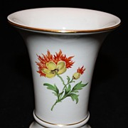 Elegant Petite Meissen Vase with Floral Decoration