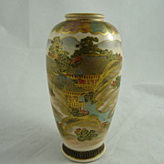Lovely Satsuma Vase with Scenic Decoration