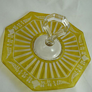 Duncan and Miller Center Handle Server Yellow Wheel Engraved