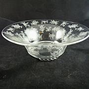 Heisey Chintz Etched Center Bowl