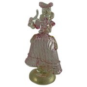 Vintage Murano Art Glass Figure of a Lady