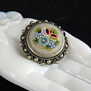 Vintage Italian Micro Mosaic Brooch