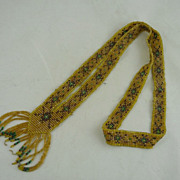 Art Deco Flapper Seed Bead Sautoir Necklace