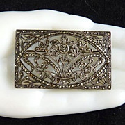 Sterling Silver and Marcasite Brooch with Flowers
