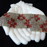 Rare Art Deco Flapper Seed Bead Headband