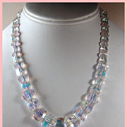 SALE Signed Exquisite Swarovski Crystal Pagoda Bead Necklace