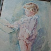 Vintage Painting of a Child