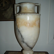 Dramatic Vintage Marble Urn With Handles