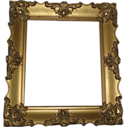 Beautiful Antique Gilded Gesso Wood Frame With Scrolls