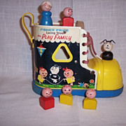 Vintage Fisher Price Little People Play Family Lacing Shoe Set 1965