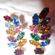 Vintage Accessocraft RHINESTONE Earrings