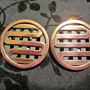 Vintage Copper RENOIR Earrings 1960's
