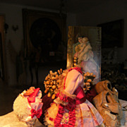 Tiny fabulous Haute Couture Made in Paris costume with tiny Hat , for a BRU, STEINER, F.G., Mi