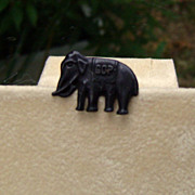Petite Elephant Metal Button with GOP letters
