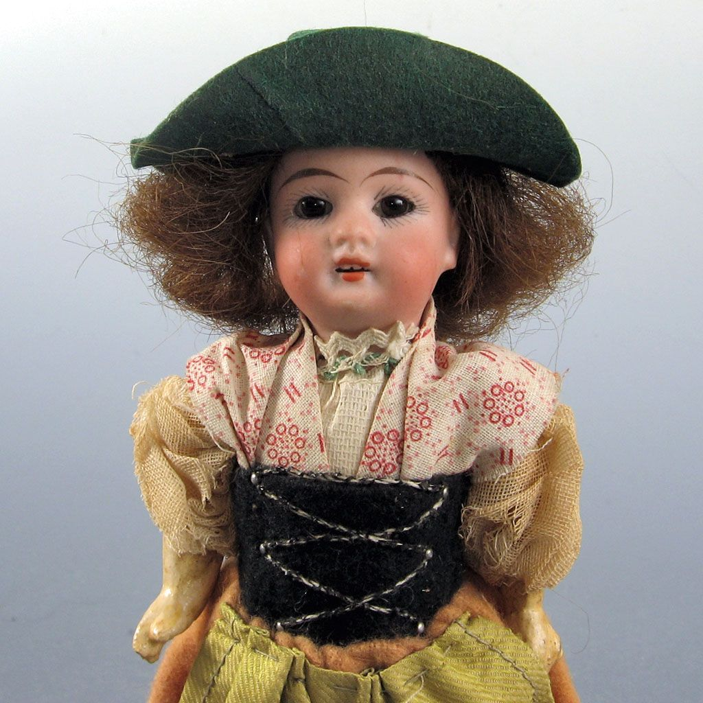 "Antique Bisque German Doll  6.5""~ All Original~""G K"" Sweden"