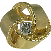 Vintage 14kt Love Knot Ribbon Ring