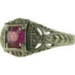 Vintage Art Deco Era 14kt Ruby Ring
