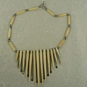 Vintage African Bone Necklace