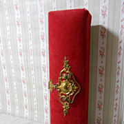 "12 "" Victorian Glove Box Art Nouveau With Beautiful Brass Clasp"