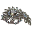 Big vintage Juliana rhinestone brooch colors of the sea