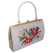 Very pretty vintage seed bead Tambour purse floral bouquet