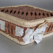 Old Shaker woven basket authentic